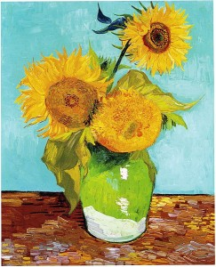 Vincent_Van_Gogh_-_Three_Sunflowers_F453 سهراب نبی پور ، ونگوک طبیعت نیمه جان Vincent Van Gogh   Three Sunflowers F453