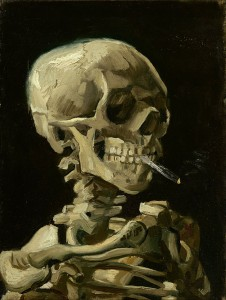 Vincent_van_Gogh_-_Head_of_a_skeleton_with_a_burning_cigarette_-_Google_Art_Project سهراب نبی پور ، ونگوک طبیعت نیمه جان Vincent van Gogh   Head of a skeleton with a burning cigarette   Google Art Project